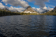 Two Waves Photos - Two Medicine Lake in Spring by Greg Nyquist