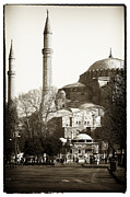 Sultanhmet Prints - Two Minarets Print by John Rizzuto