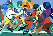Football Game Mixed Media Prints - Two Minute Warning Print by Anthony Falbo