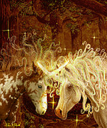 Unicorns Posters - Two Of A Kind Poster by Steve Roberts