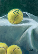 Tennis Painting Originals - Two on Top by Joe Winkler