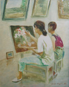 Ji-qun Chen - Two Painters