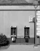 Book Flower Prints - Two Pay Phones Print by Perry Webster