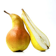 Foodstuffs Posters - Two pears Poster by Bernard Jaubert