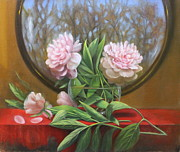 Peonies Paintings - Two Peonies by Loretta Fasan