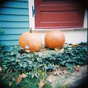 Leaves - Two Pumpkins by Lynn-Marie Gildersleeve