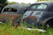 Rusted Cars Photos - Two Rear Ends by Randy Harris