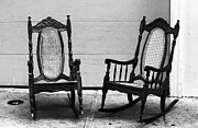 Panama City Prints - Two Rocking Chairs Print by John Rizzuto