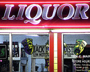 Liquor Store Prints - Two Sides Of Booze Print by Joe JAKE Pratt