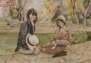 Sisters Paintings - Two Sisters by Wendy Hill