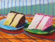 Cake Pastels Framed Prints - Two Slices Framed Print by John  Williams