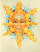 4th Pastels Posters - Two Suns Poster by Michelle Bien