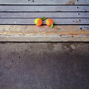 Healthy Eating Art - Two Tangerines by Sarah Palmer