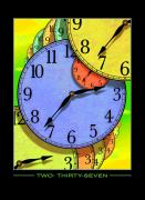 Clocks Posters - Two Thirty-seven Poster by Mike McGlothlen