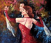 Ballroom Dance Paintings - Two To Tango by David G Paul