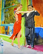 Ballroom Paintings - Two to Tango by Judy Kay