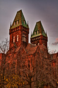 Haunted Castle Prints - Two towers 1 Print by Chuck Alaimo