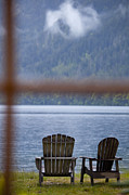 Lounger Prints - Two Traditional Adirondack Style Wooden Print by Rob Casey