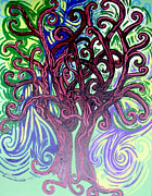 Mother Earth Paintings - Two Trees Twining by Genevieve Esson