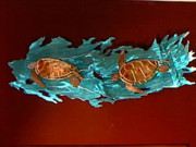 Outdoors Sculptures - Two Turtles by Glen Cowan
