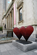Montreal Photos - TWO VALENTINES Montreal Quebec by John  Mitchell