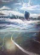 Ethereal Pastels Originals - Two Worlds by Leonard Aitken