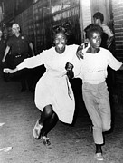 Arrests Framed Prints - Two Young African Americans Girls, One Framed Print by Everett