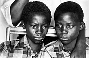 Black History Art - Two Young Men In South Africa, Living by Everett