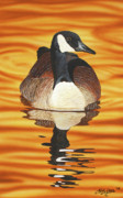 Waterfowl Paintings - Twylight Cruise by Chad Lubbers