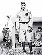 Baseball Painting Posters - Ty Cobb Poster by Ferrel Cordle