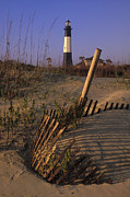 Chatham County Prints - Tybee Island Lighthouse - FS000812 Print by Daniel Dempster