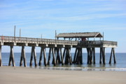 Atlantic Coast Framed Prints - Tybee Island Pier Closeup Framed Print by Carol Groenen