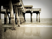 Tybee Island Pier Photos - Tybee Island Under the Boardwalk by Debbie Pippin