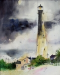 Gertrude Palmer Metal Prints - Tybee Lighthouse Metal Print by Gertrude Palmer