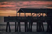 Water Greeting Cards Framed Prints - Tybee Pier Framed Print by Gagan  Dhiman