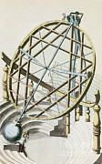 Armillary Posters - Tycho Brahes Armillary Sphere Poster by Science Source