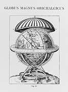 Constellations Metal Prints - Tychos Great Brass Globe Metal Print by Science, Industry & Business Librarynew York Public Library