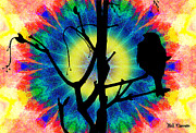 Hippie Prints - Tye Dye Birdie Print by Bill Cannon