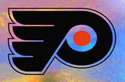 Hockey Digital Art - Tye Dye Flyers by Bill Cannon