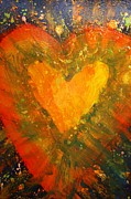 True Cross Acrylic Prints - Tye Dye Heart Acrylic Print by James Briones