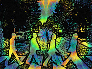 Hippie Posters - TyeDye Abbey Road Poster by Bill Cannon
