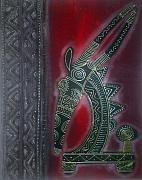 Featured Tapestries - Textiles Originals - Tyiwara by Peter Otim Angole