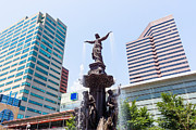 Popular Art - Tyler Davidson Fountain Cincinnati Ohio  by Paul Velgos