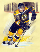 Nhl Hockey Drawings Prints - Tyler Seguin Print by Dave Olsen