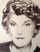 Robbi Musser Drawings - Tyne Daly by Robbi  Musser