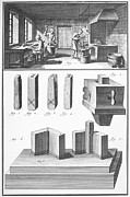 Foundry Prints - TYPE FOUNDRY, 18th CENTURY Print by Granger