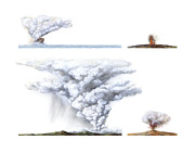 Quartet Prints - Types Of Volcanic Eruption Print by Gary Hincks