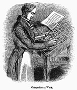 Compositor Photos - TYPESETTER, 19th CENTURY by Granger