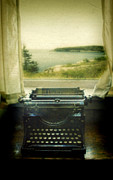White River Scene Photos - Typewriter by Window by Jill Battaglia