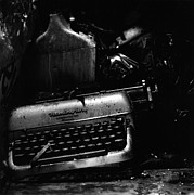 Olivetti Photo Metal Prints - Typewriter Metal Print by Eric Tadsen